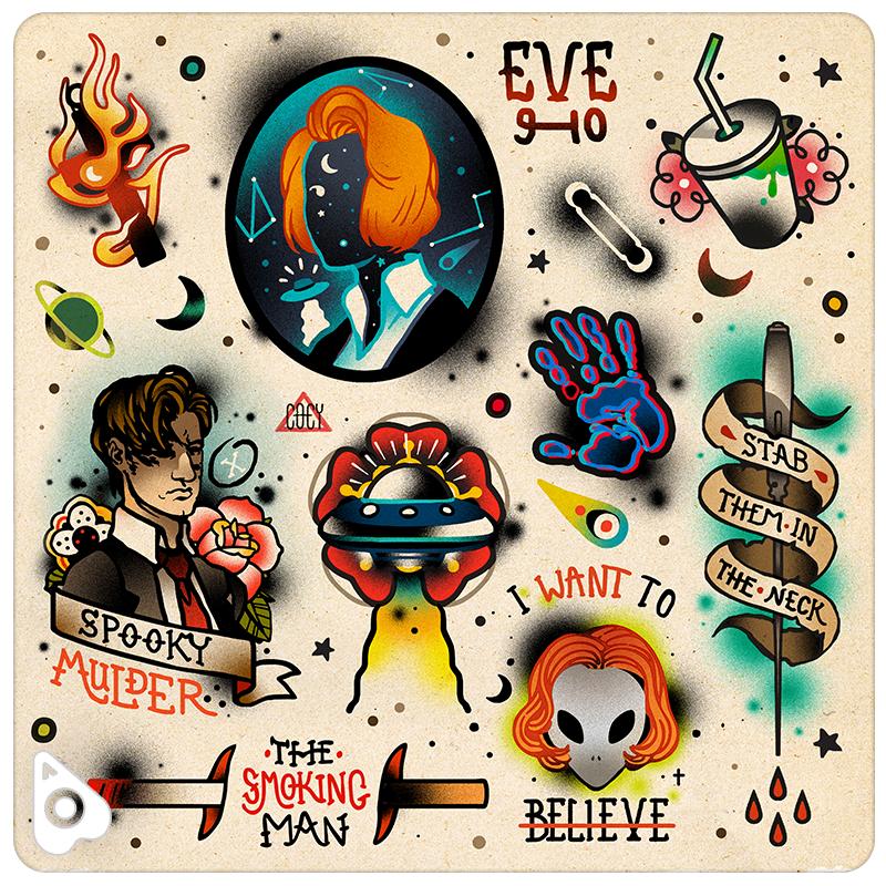 X Files Tattoo Ideas: X-Files Flash, By Coey Kuhn