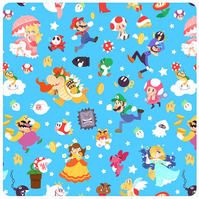Mario Pattern By Maya Kern Weejapeeja