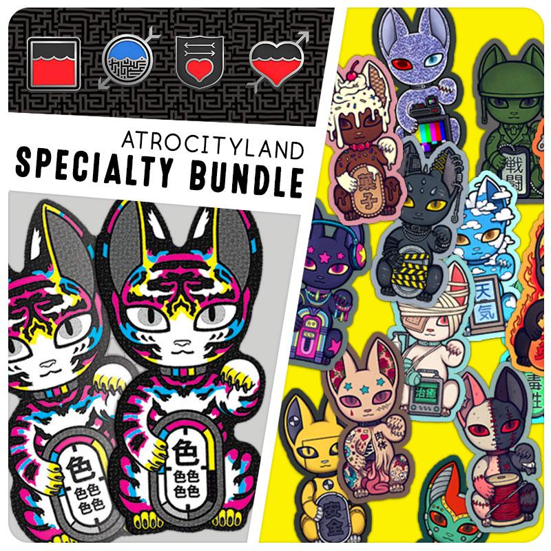 by WeejaPeeja Black Cat and Tombstone  Enamel Pins